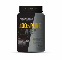 100% Pure Whey Pote 900G - Probiótica Morango